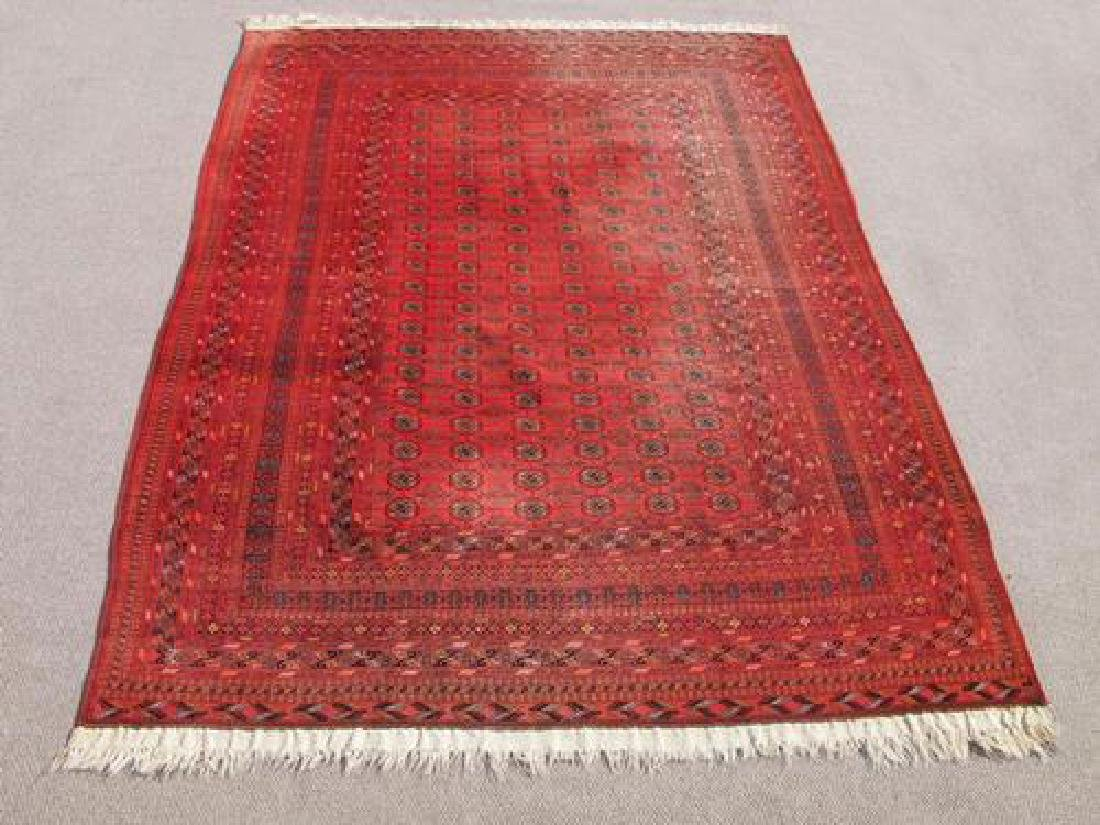 Intricate Knotted Semi Antique Turkman Tribal Rug 9x12