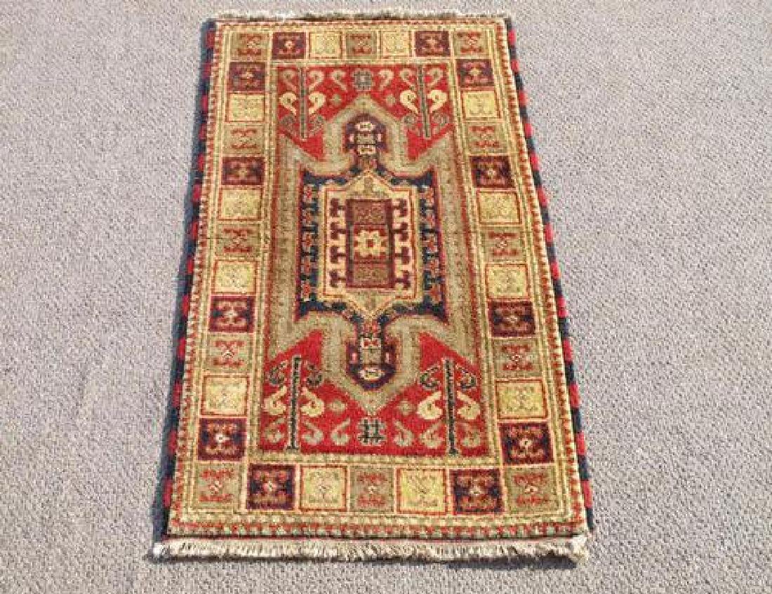 Highly Collectible Handmade Indo Kazak Design 2x4
