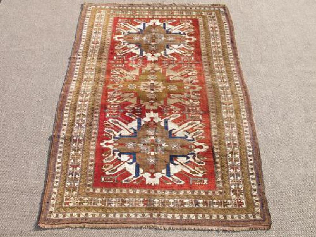 Special Russian Design Hand Woven Semi Antique Kazak
