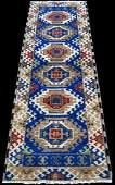 Quite Gorgeous Slavic Tribal Design Kazak Runner 7ft