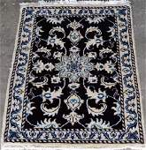 Nice Looking Dark Tone WoolSilk Persian Nain 2x3