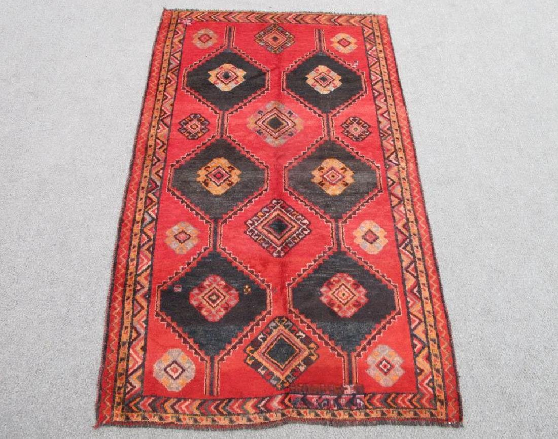 Extremely Vivid Semi Antique Wool on Wool Persian