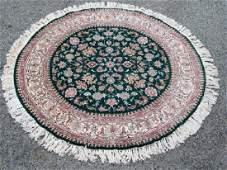 Hand Woven Tabriz Design 6 Round Rug