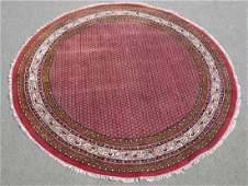 Spectacular Round 8' Semi Antique Indo Sarouk Mir