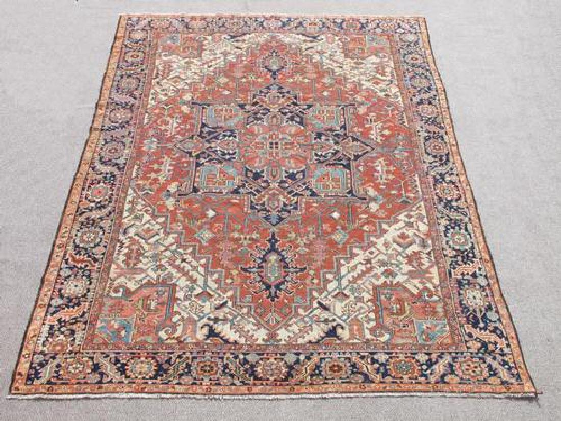 Extremely Rare and Kind Semi Antique Persian Serapi Rug