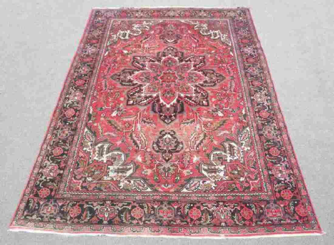 Collectible Sharabian Design Semi Antique Persian Heriz
