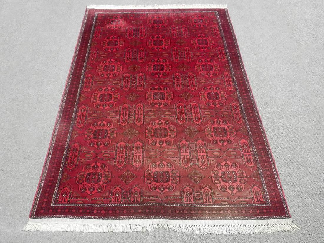 Finely Knotted Delicate Allover Wool on Wool Turkmen
