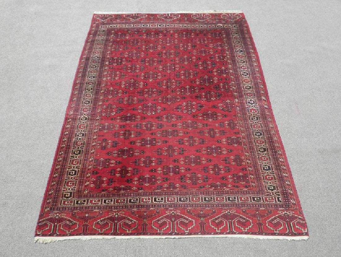 Fine Knotted Hand Woven Antique Persian Turkmen 7x10