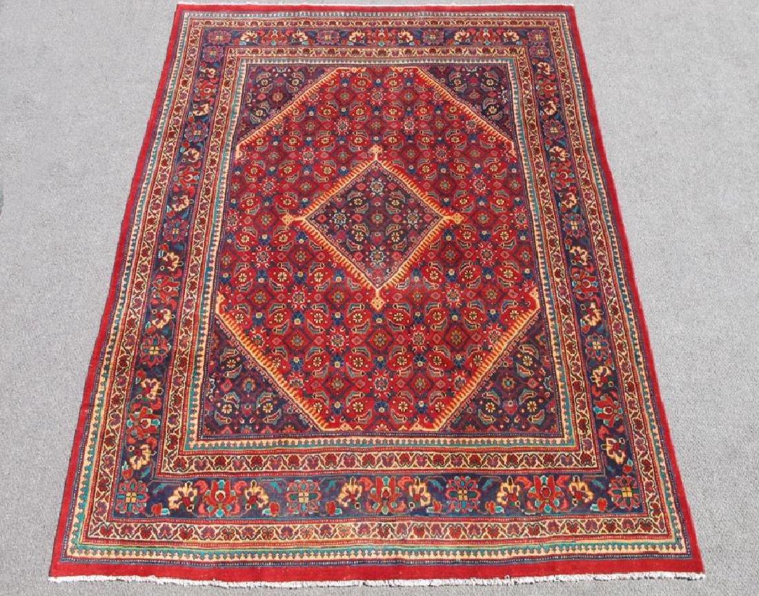 Simply Gorgeous Semi Antique Persian Hosseinabad Rug