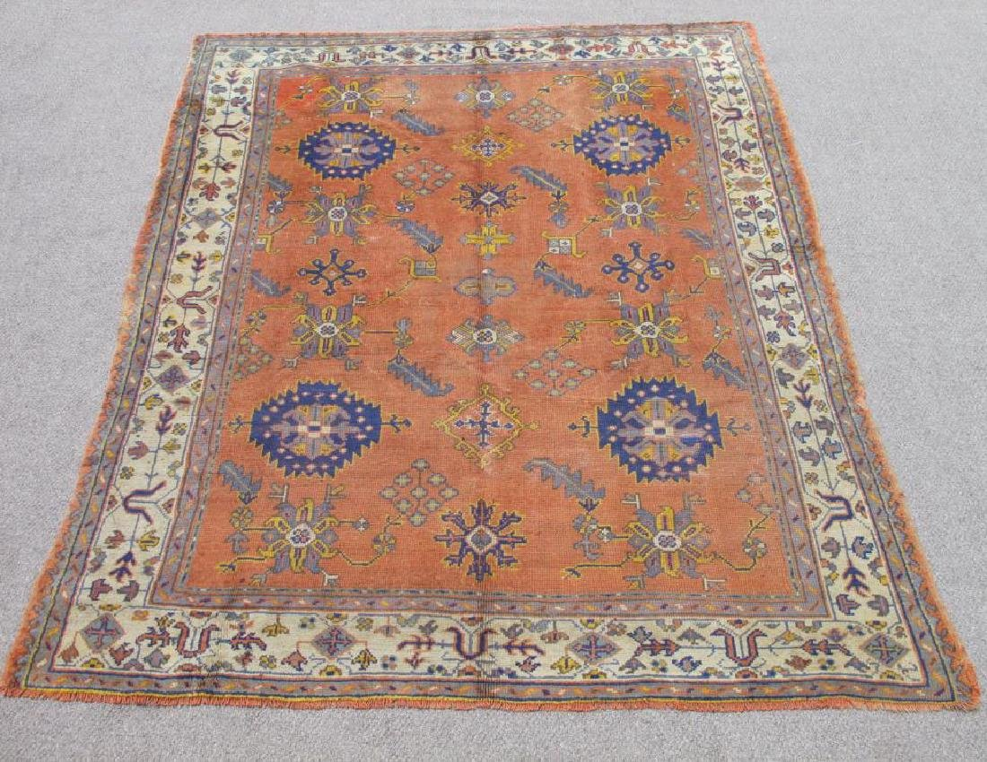 Magnificent Antique Circa 1900 Wool on Wool Turkish