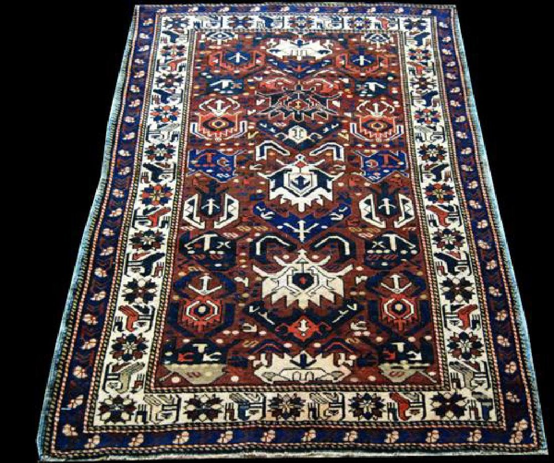 Very Rare Hand made Antique Shirvan Rug from USSR