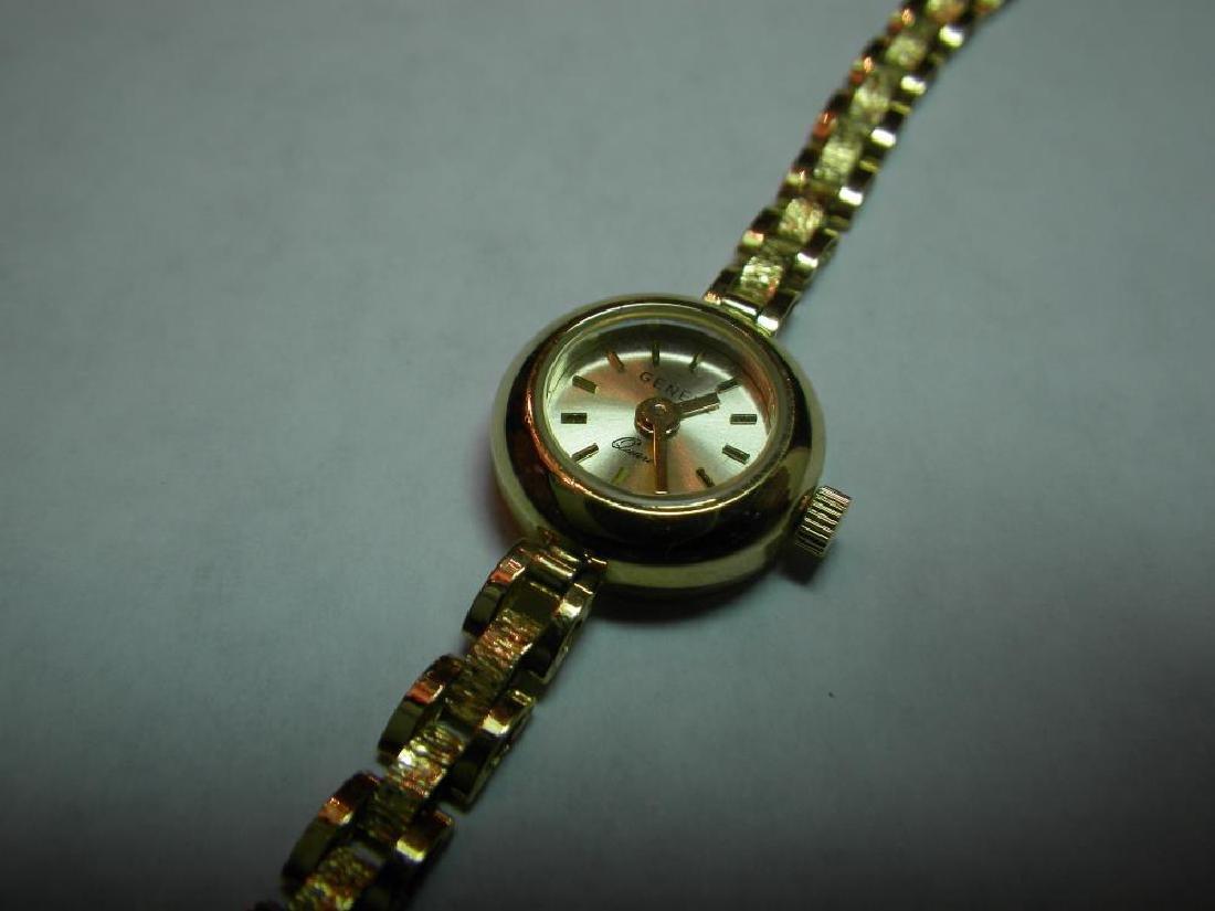18 Karat Gold Swiss Made Geneva Fancy Watch - 3