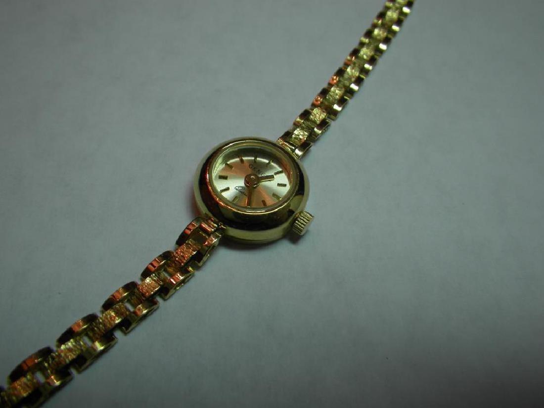 18 Karat Gold Swiss Made Geneva Fancy Watch - 5