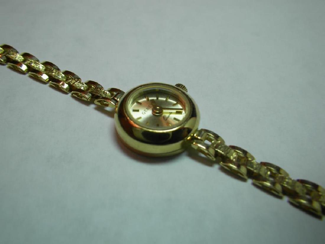 18 Karat Gold Swiss Made Geneva Fancy Watch - 6