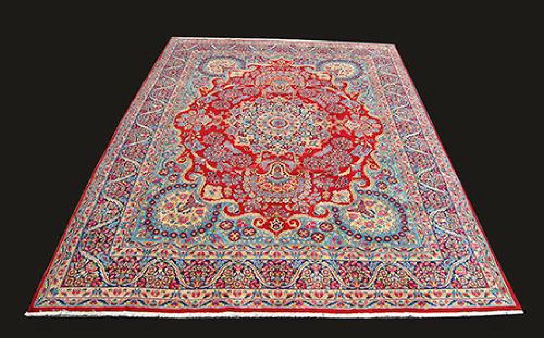 VIBRANT VOLUMINOUS FLORAL PATTERNS KERMAN RAVAR RUG