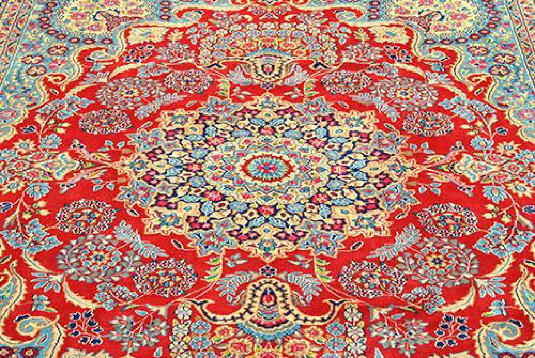 VIBRANT VOLUMINOUS FLORAL PATTERNS KERMAN RAVAR RUG - 3
