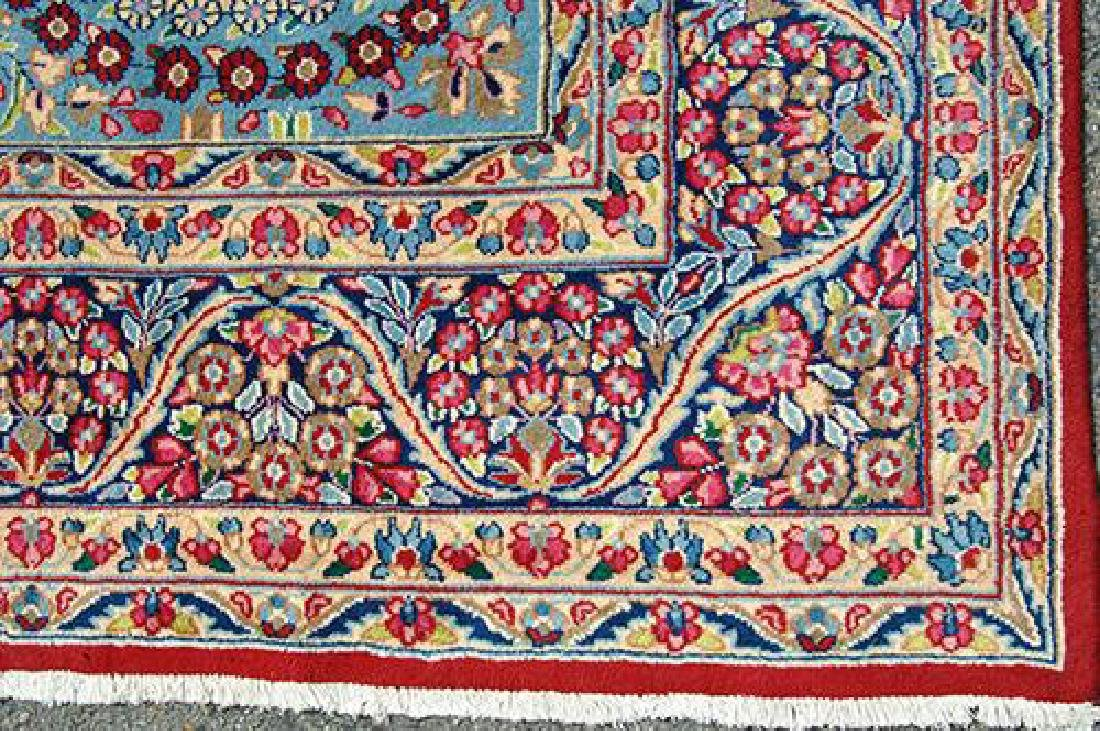 VIBRANT VOLUMINOUS FLORAL PATTERNS KERMAN RAVAR RUG - 4