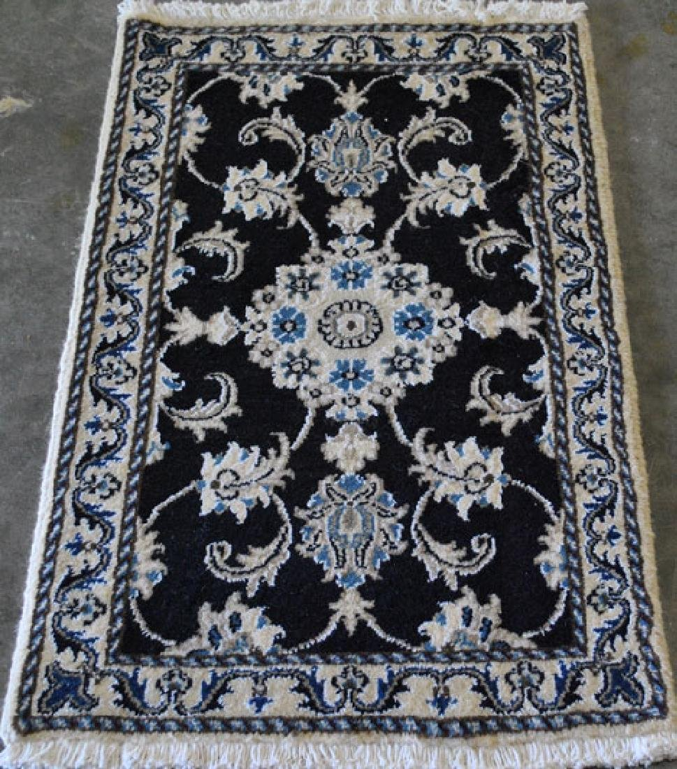 Beautiful Handmade Silk Blended Persian Nain 2x3