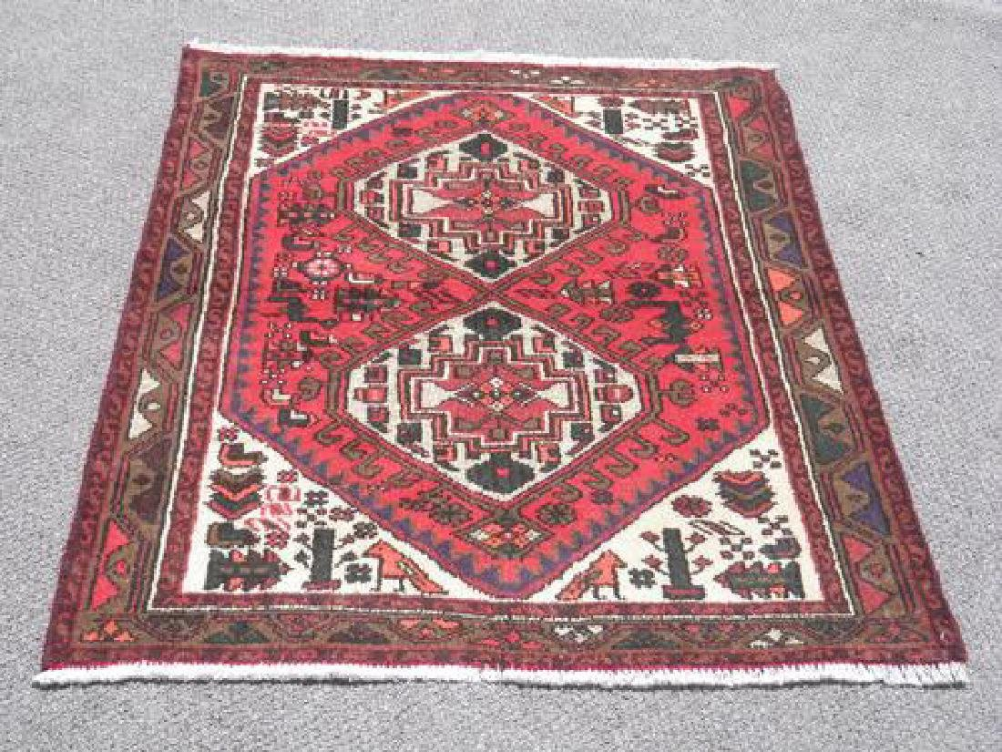 Collectible Handmade Persian Hamadan 4.4x3.4