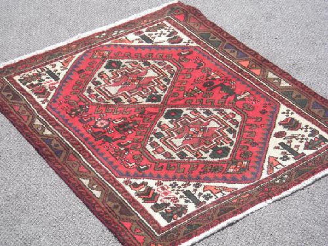 Collectible Handmade Persian Hamadan 4.4x3.4 - 2