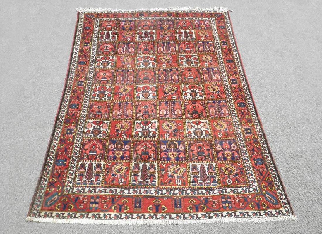 Handmade Four Seasons Design Semi Antique Persian