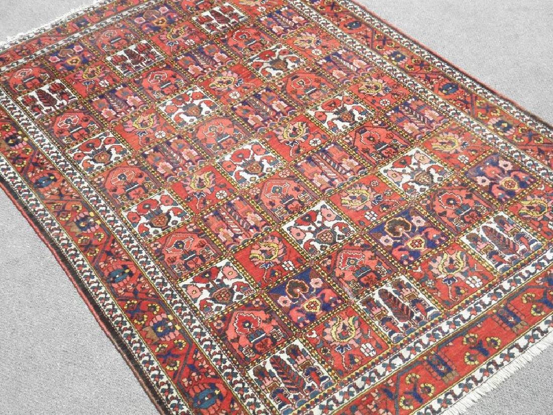 Handmade Four Seasons Design Semi Antique Persian - 2
