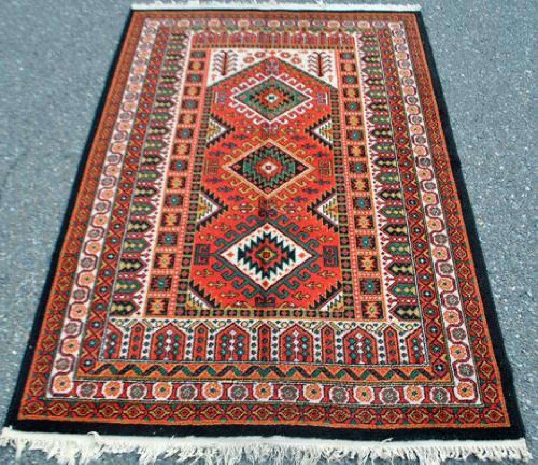 Bold Hand Woven Persian Karajeh 4x6