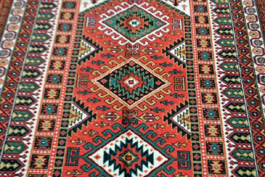 Bold Hand Woven Persian Karajeh 4x6 - 2