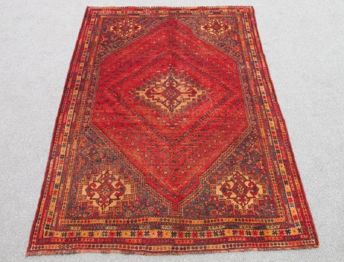 Quite Fascinating Semi Antique Wool on Wool Persian
