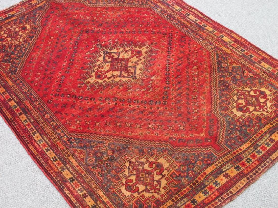 Quite Fascinating Semi Antique Wool on Wool Persian - 2