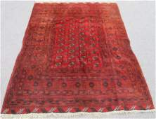 Hand Knotted Semi Antique Wool on Wool Persian Turkmen