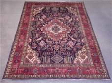 Stunning Semi Antique Geometric Persian Tabriz