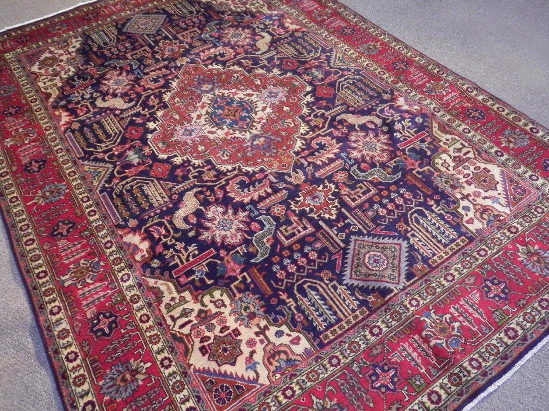 Stunning Semi Antique Geometric Persian Tabriz - 2