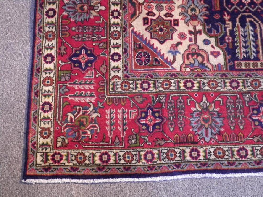 Stunning Semi Antique Geometric Persian Tabriz - 4