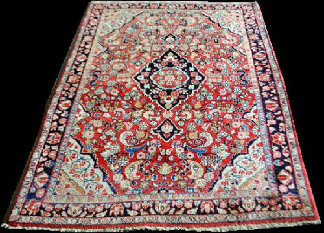 Handmade Antique Persian Sarouk rug 5x7
