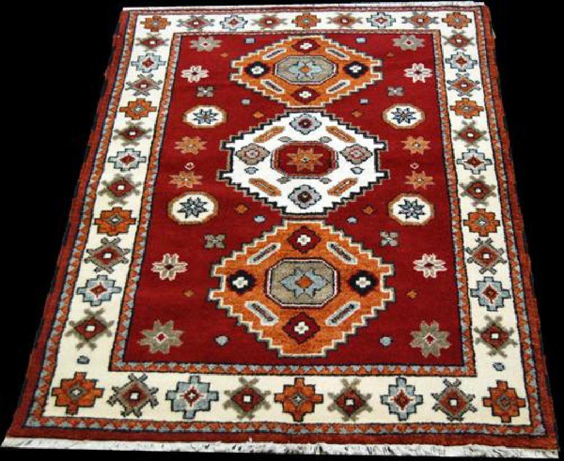 Beautiful Hand Woven Wool Nepalese Rug 4x5.8