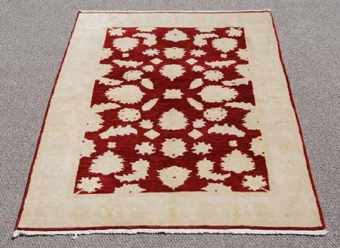 Nicely Contrasted Handmade Egyptian Rug