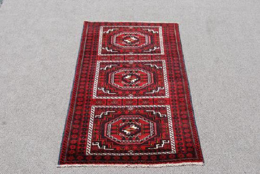 GORGEOUS HAND MADE PERSIAN TURKMAN RUG - 2