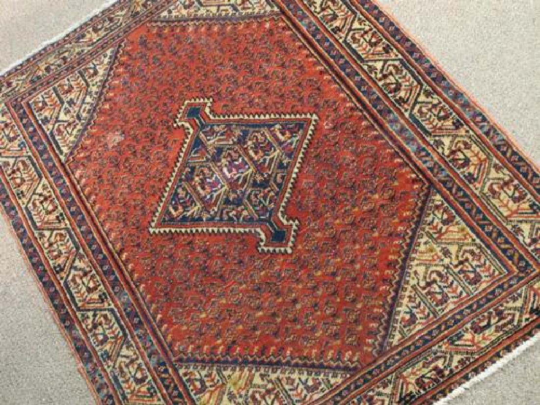 Gorgeously Designed Semi Antique Persian Sarouk Mir 4x5 - 2