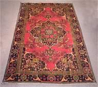 Handmade Semi Antique Persian Tabriz 9.5x6.1