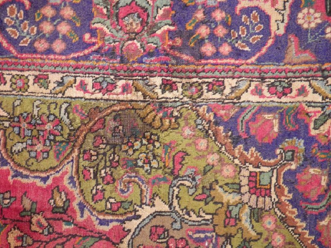 Detailed Semi Antique Persian Tabriz 10.6x8.2 - 10