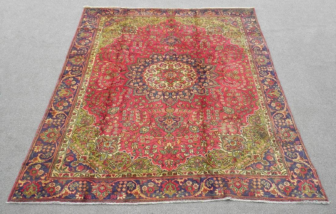 Detailed Semi Antique Persian Tabriz 10.6x8.2