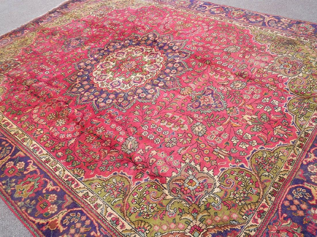 Detailed Semi Antique Persian Tabriz 10.6x8.2 - 2