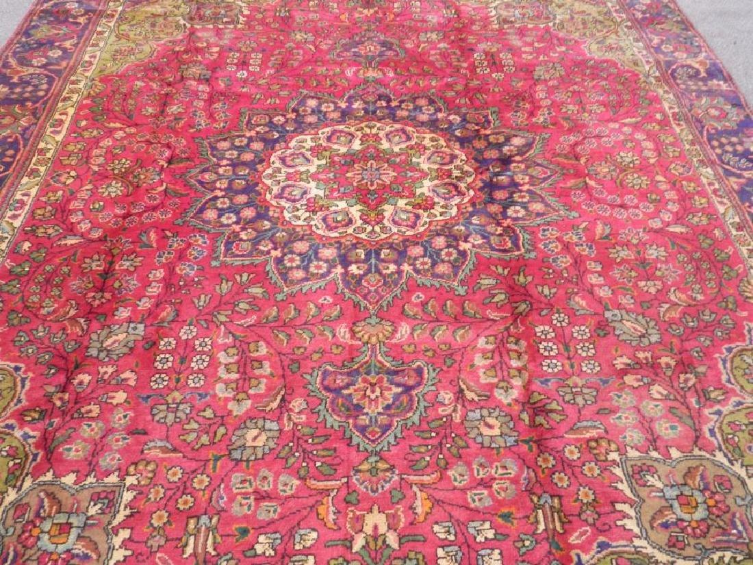 Detailed Semi Antique Persian Tabriz 10.6x8.2 - 3