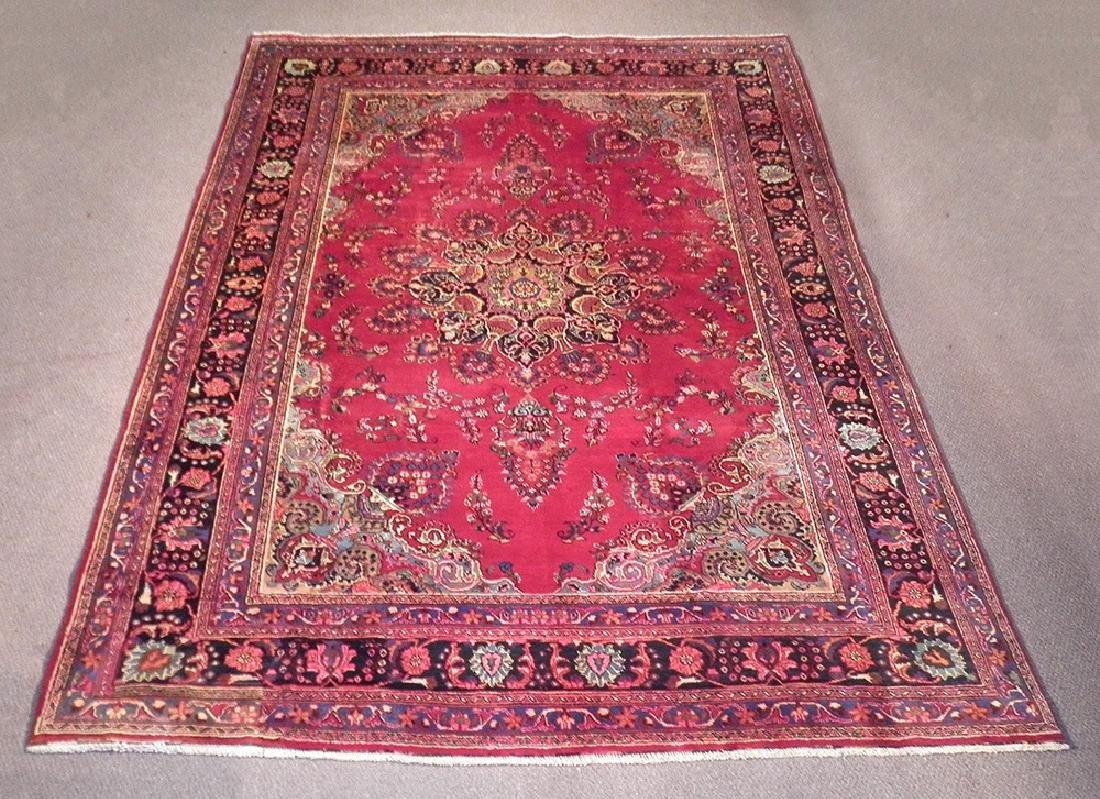 Spectacular Semi Antique Persian Kashan 10.8x8.1