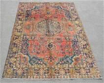 Handmade Semi Antique Persian Tabriz 10.6x6.8