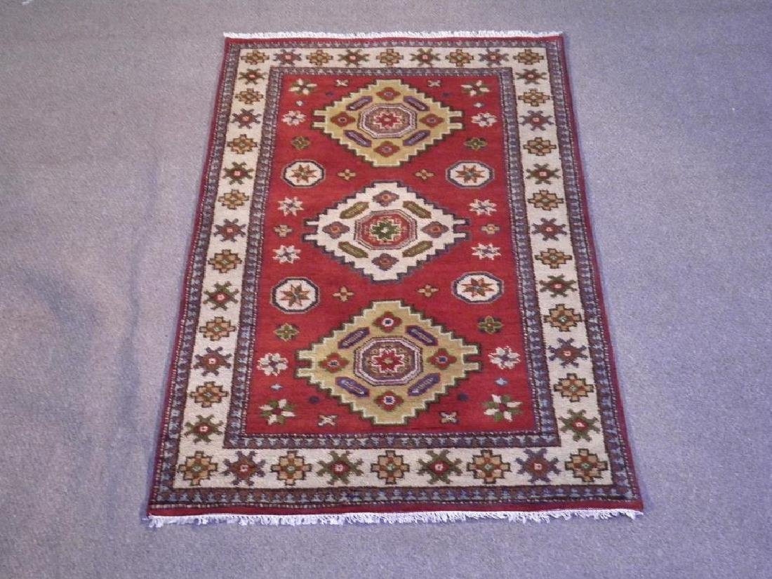 Lovely Handmade Kazak Design 4.1x6