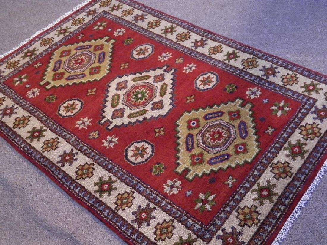 Lovely Handmade Kazak Design 4.1x6 - 2