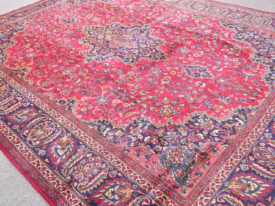 Stunning Semi Antique Persian Mashad 12.5x9.5 - 2