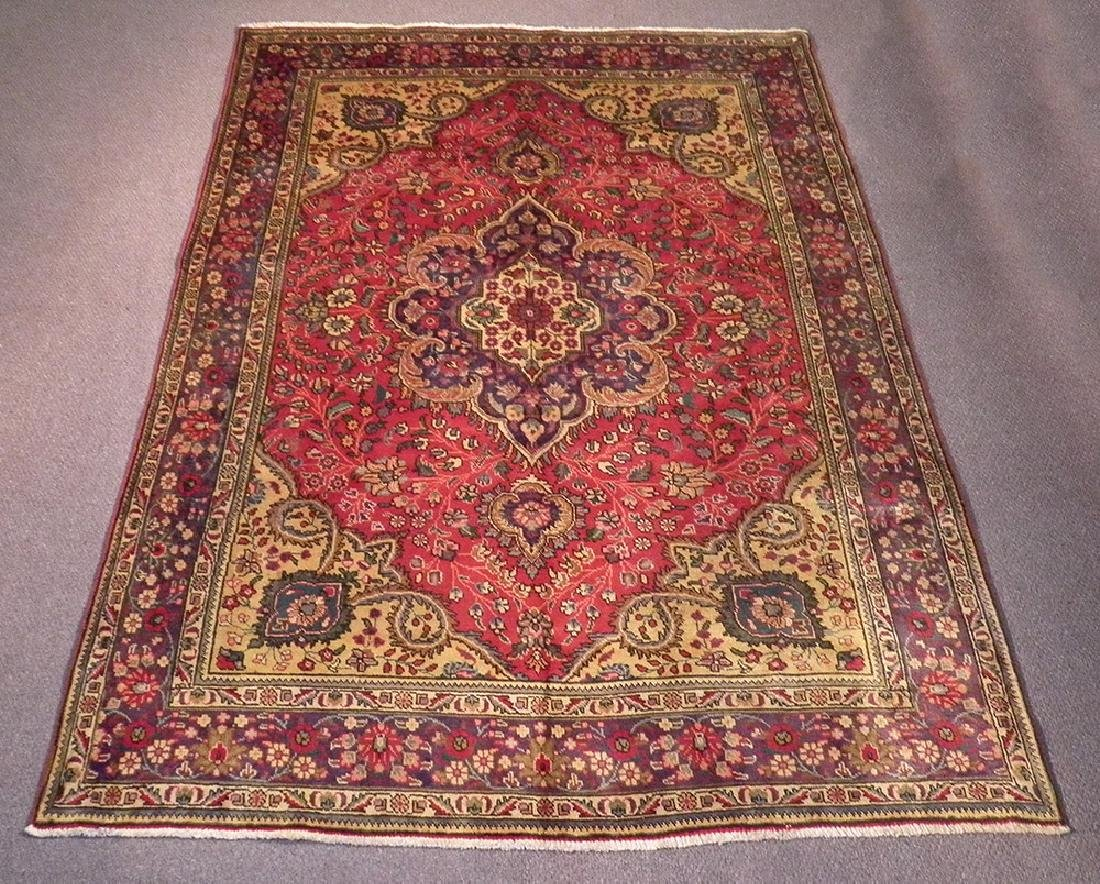 Highly Detailed Semi Antique Persian Tabriz 9.4x6.5